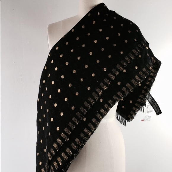 4cde033ed61 New zara black gold polka dot scarf foulard